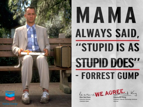 """Forrest Gump:  """"Mama Always Said, 'Stupid Is As Stupid Does.'"""""""