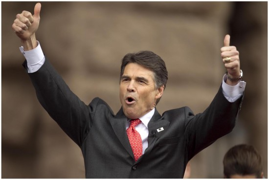 """Campaña de Richard Perry - """"Take Charge, America"""" Rick-perry-hand-gesture-two-thumbs-up"""