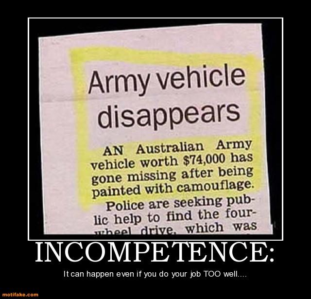 incompetence three