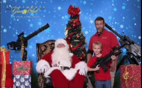 santa at gun club