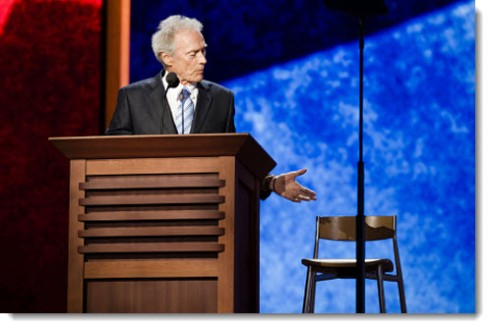 clint eastwood rnc empty chair