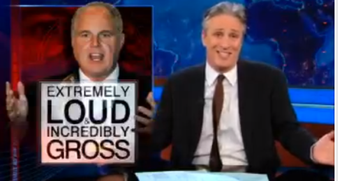 jon stewart and rush limbaugh