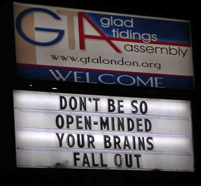 Funny Church Signs-Probably Written by Sarah Palin