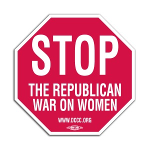 war on women stop sign