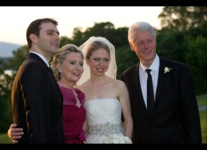 chelsea clinton wedding family