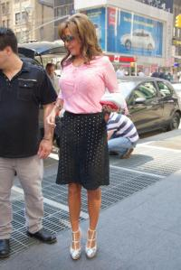 palin pink shirt new york