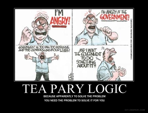 Image result for ignorant tea party cartoons