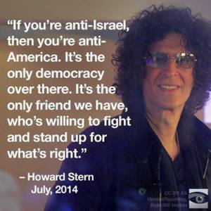 howard stern on israel on palin's facebook