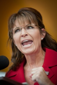 Former Governor Sarah Palin speaks at a Tea Party rally  - Manchester