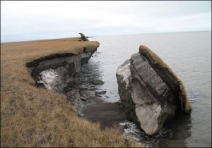 ALASKA GLOBAL WARMING THREE EROSION