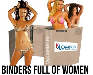romney binders full of women