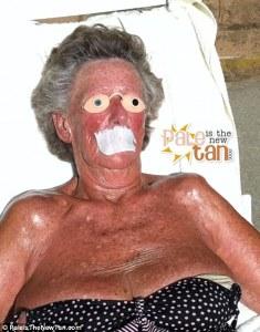 horrible tan woman