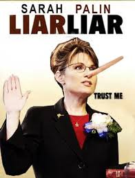 Image result for palin liar