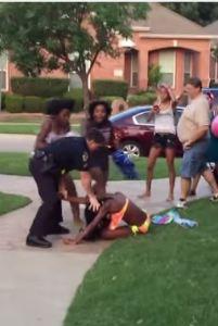 mckinney cops girl headlock