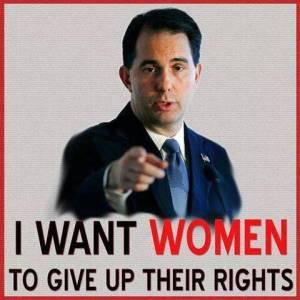 scott walker women rights