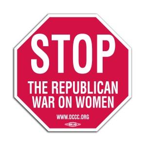 war on women stop sign