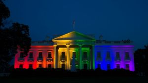 white house rainbow colors