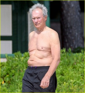 clint eastwood shirtless