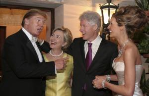 trump clinton wedding