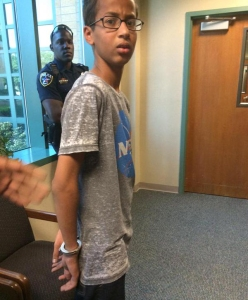 ahmed handcuffed