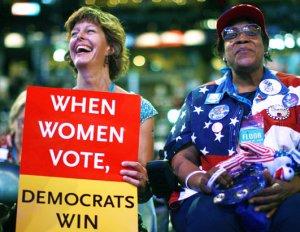 women voters-demos win
