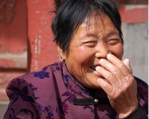 chinese lady laughing