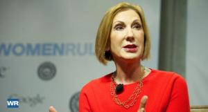 carly fiorina red dress