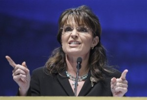 Former Alaskan Gov. Sarah Palin speaks during the NRA national convention in Charlotte, N.C., Friday, May 14, 2010. (AP Photo/Chuck Burton)