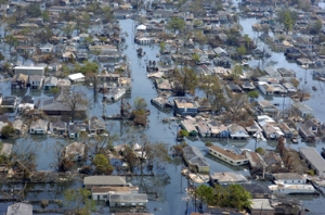 Photos by Kathy Anderson Flood Street These are aerial photos of the Ninth Ward area of New Orleans after it was flooded by Hurricane Katrina. September 9, 2005