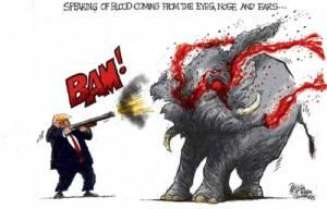 trump elephant cartoon