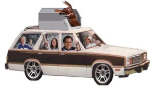 romney dog car