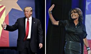 U.S. Republican presidential candidate Donald Trump arrives for a campaign event in Phoenix, Arizona July 11, 2015. REUTERS/Nancy Wiechec - RTX1K1CM