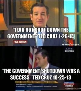 ted cruz government shut down