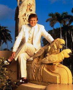 donald trump white suit