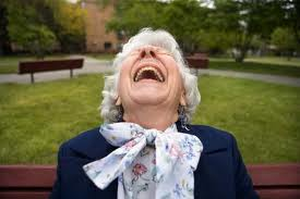 old lady laughing