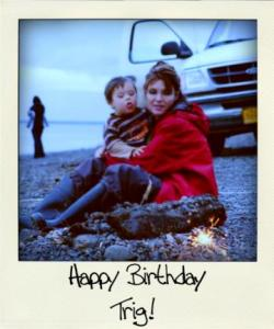 palin trig birthday beach