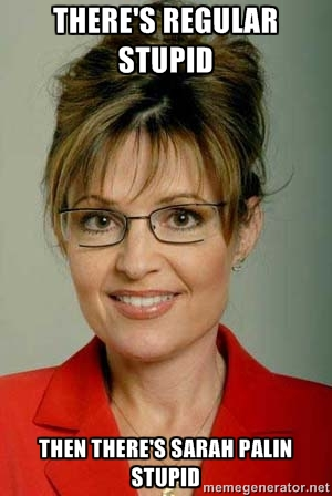 Image result for stupid sarah palin