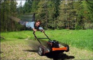 lawn mowing funny