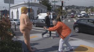 naked trump statute-taking picture