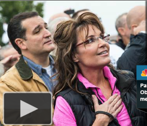 palin cruz at rally