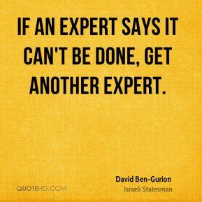 get another expert