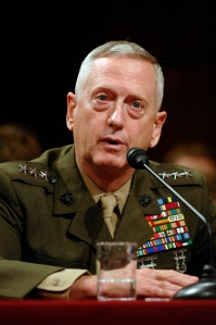 070527-N-3642E-261 Washington, D.C. (Sept 27, 2007) - Lt. Gen. James N. Mattis, testifies before the Committee on Armed Services during his confirmation hearing for appointment to Commander, United States Joint Forces Command and Supreme Allied Commander for Transformation.  U.S. Navy photo by MCC(AW) Shawn P. Eklund (RELEASED)
