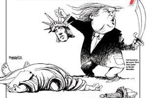 trump-muslim-ban-statute-liberty-decapitated