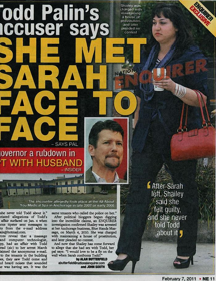 Image result for sarah palin national enquirer