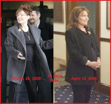 Image result for sarah palin pregnant