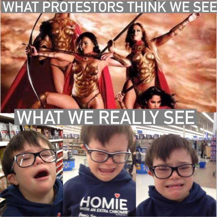 What protestors (who can't explain what they're protesting) think we see -vs- what we really see 🤣 (😘sorry Trig!❤️)